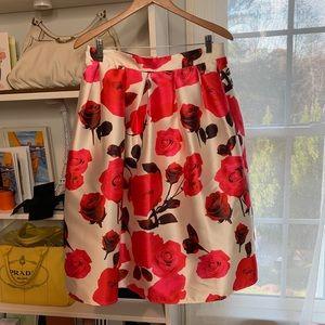 50's inspired Flowered A-line skirt !